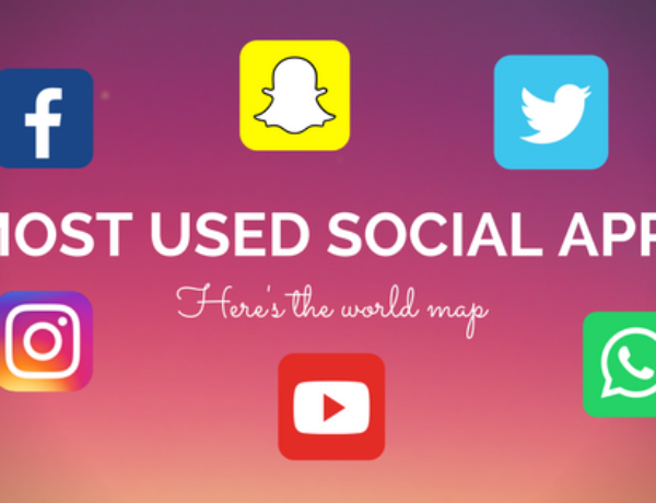 Most used social app? Here's the world map
