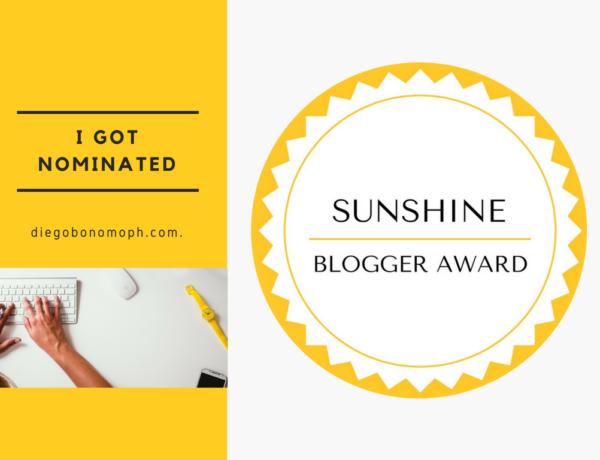 Sunshine Blogger Award, I got nominated
